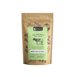 Nutra Organics Beef Bone Broth Powder - Garlic & Herb 100g