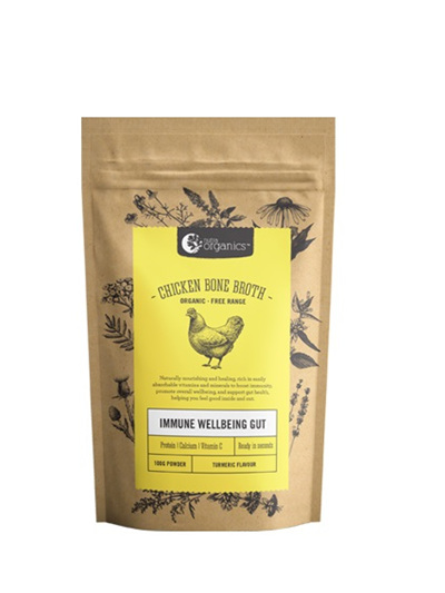 Nutra Organics Chicken Bone Broth Turmeric 100g