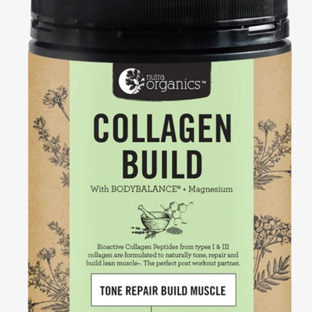 Nutra Organics Collagen Build with Bodybalance - 2 Sizes