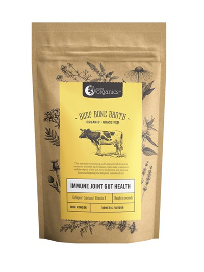Nutra Organics Organic Beef Bone Broth Powder Garden Herb 100g