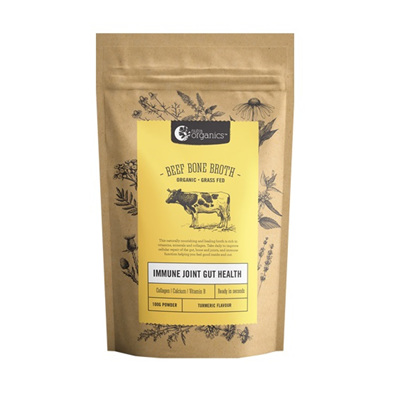 Nutra Organics Organic Beef Bone Broth Turmeric 100g