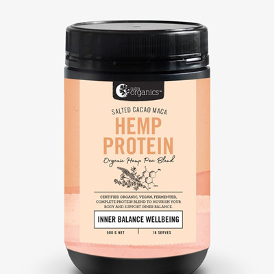 Nutra Organics Organic Hemp Protein Salted Cacao Maca 500g