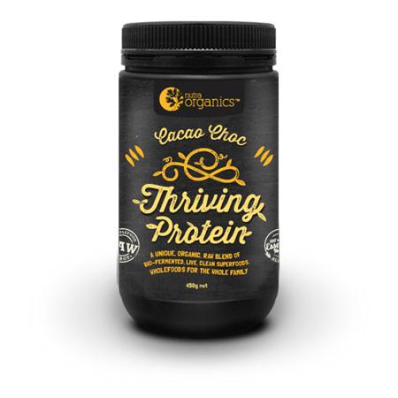 Nutra Organics Organic Thriving Protein Cacao Choc 450g