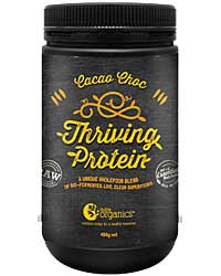 Nutra Organics Thriving Protein Cacao Choc 450gm