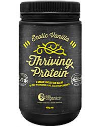 Nutra Organics Thriving Protein Exotic Vanilla 450gm
