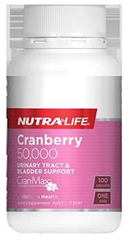 Nutralife Cranberry 50000  50 capsules 100 capsules in picture