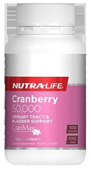 Nutralife Cranberry 50,000 - 50 capsules (100 capsules in picture)