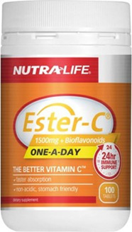NutraLife Ester C 1500mg  Bioflavonoid Tablets 100s