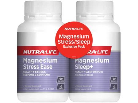 Nutralife Magnesium Stress Ease 60s & Magnesium Sleep+ 60s