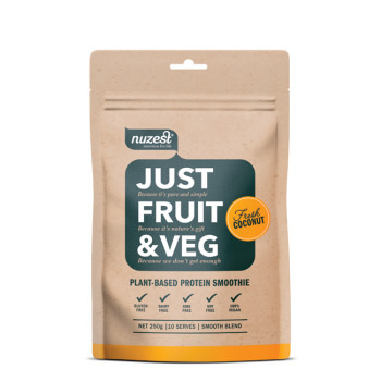 NuZest Just Fruit and Veg 250g pouch