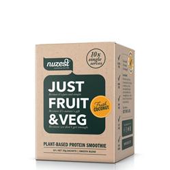 Nuzest Just Fruit and Veges Fresh Coconut Sachet Box 10 x 25g sachets