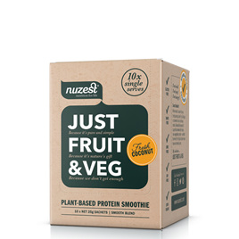 Nuzest Just Fruit and Veges Fresh Coconut Sachet Box 10 x 25g sachets