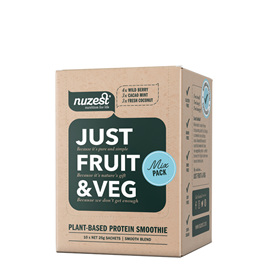 Nuzest Just Fruit and Veges Fresh Mixed Sachet Box 10 x 25g sachets