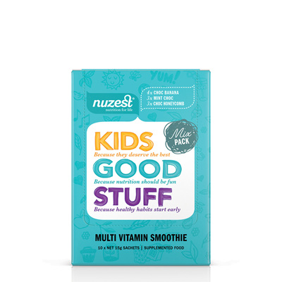 Nuzest Kids Good Stuff Super Nutrient Smoothie Sachet - 3 flavours