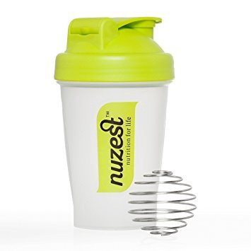 Nuzest shaker with 2x wild strawberry sachets
