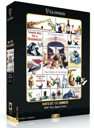 New York Puzzle Company 1000 Piece Jigsaw Puzzle: Who's Got The Guinness?