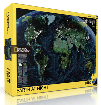 New York Puzzle Company 1000 Piece Jigsaw Puzzle: Earth At Night