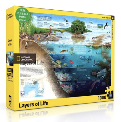 New York Puzzle Company 1000 Piece Jigsaw Puzzle: Layers Of Life