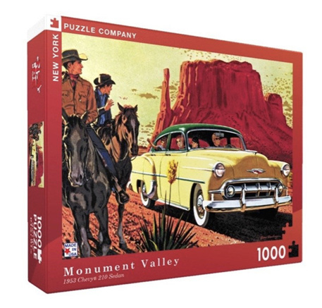 New York Puzzle Company 1000 Piece Jigsaw Puzzle: Monument Valley - 1953 Chev
