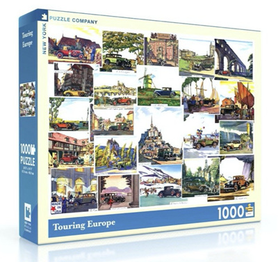 New York Puzzle Company 1000 Piece Jigsaw Puzzle: Touring Europe