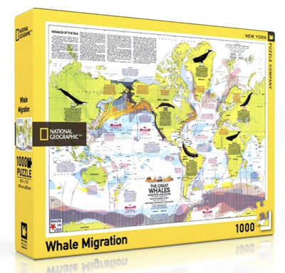 New York Puzzle Company 1000 Piece Jigsaw Puzzle: Whale Migration