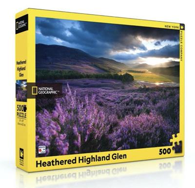 New York Puzzle Company 500 Piece Jigsaw Puzzle: Heathered Highland Glen