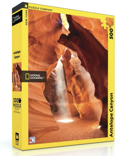 New York Puzzle Company 500 Piece Jigsaw Puzzle: Antelope Canyon