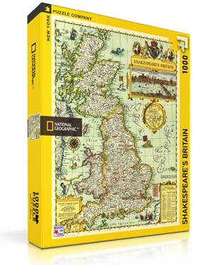 New York Puzzle Company 1000 Piece Jigsaw Puzzle: Shakespeare's Britain