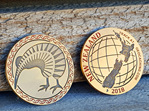 NZ 2018 Antique Gold VLE Geocoin