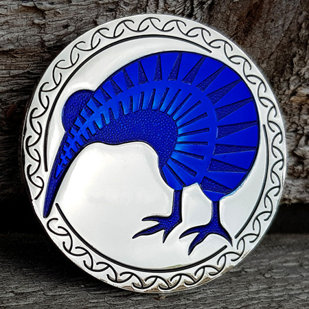 NZ 2018 Silver/Blue LE Geocoin