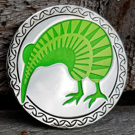 NZ 2018 Silver/Green LE Geocoin