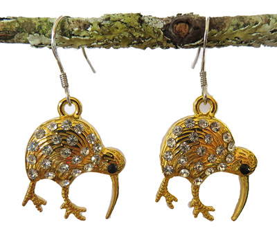 NZ  BIRD & FLOWER EARRINGS