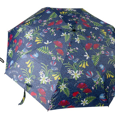 NZ Birds/Flowers Umbrella