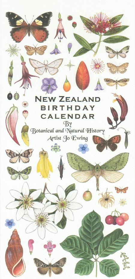 NZ Birthday Calendar - Jo Ewing