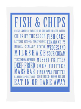 NZ Fish n Chips Tea Towel