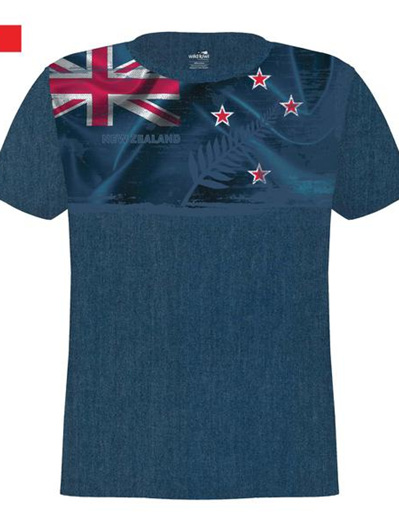 NZ Flag and Fern Tee