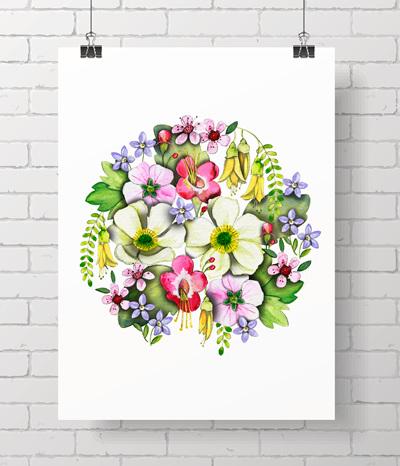"* NZ Flora 11x14"" print *"