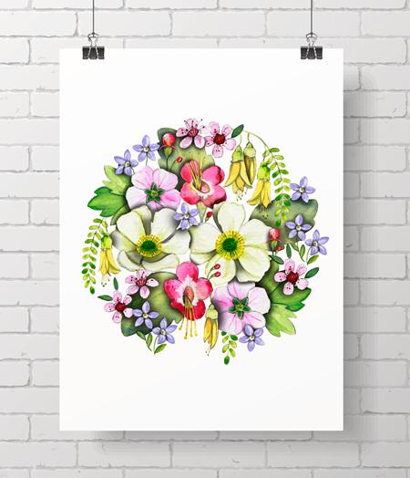 NZ Flora big print