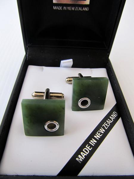 NZ Greenstone Cufflinks