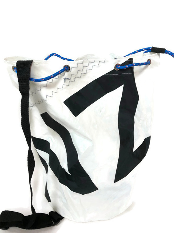 NZ made AQ duffle bag built from yacht sailcloth