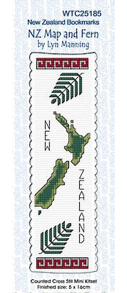 NZ Map and Fern