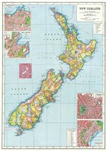 NZ Map Wrap or Poster