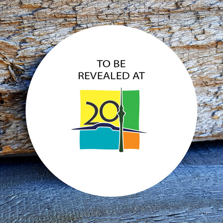 NZ Mega 2020 Event Geocoin (Gold XLE) - PRE-ORDER