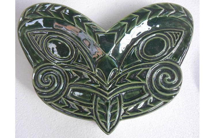 NZ Moari Wall mask, ceramic, NZ collectable art