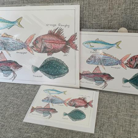 NZ Native Fish A5 Print