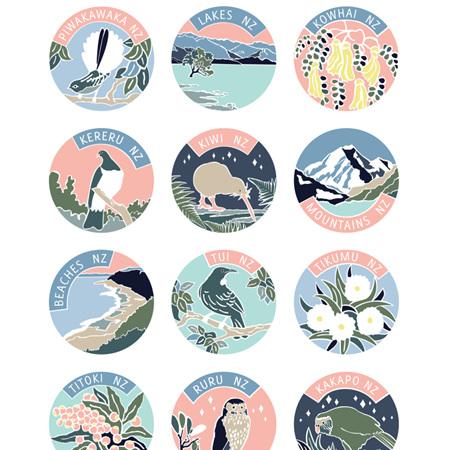 NZ Poster - Spring Palette - A3 Print