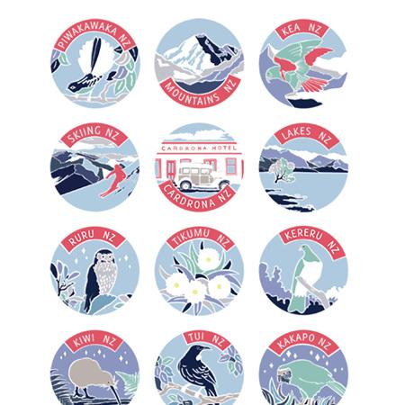 NZ Poster - Winter Palette - A4 Print