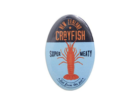 NZ Seafood Crayfish Magnet Bottle Opener
