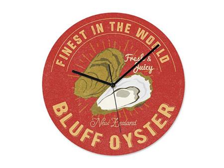 NZ Seafood Oysters Frameless Clock