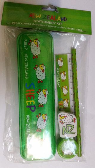 NZ Sheep Pencil Case Set